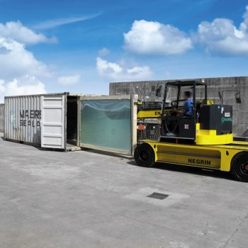 ITALCARRELLI Glass Handling Machines for oading and unloading of glass packs from/onto a closed container